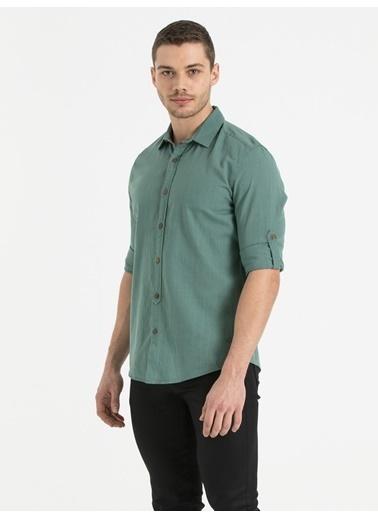 Loft Uzun Kollu Gömlek Yeşil
